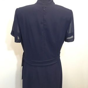 Virgo Dresses - Virgo Blue Formal Gown with Beading Size 8